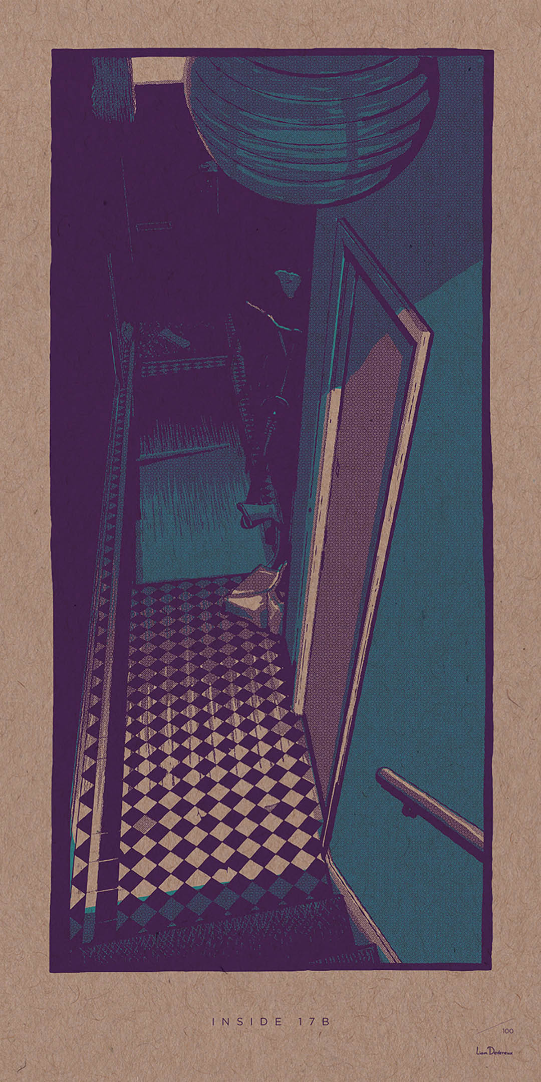 Inside 17B - Liam Devereux | 30x60mm Giclee print on 450mic recycled Kraft card